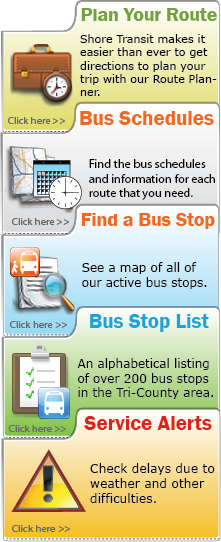Shore Transit - Stops and Schedules